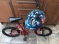 Kids Crusher Flite bike with Spider-Man helmet