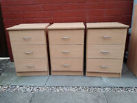 Bedside drawers - £5.00 each.