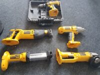 DEWALT 18v POWER TOOLS: COMBI DRILL / SAW / IMPACT WRENCH / GRINDER /