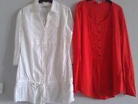 2 shirts size 18
