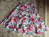 Skirt - colourful - lined - size 12