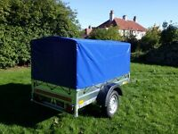 NEW Car trailers 6' x 4' 1,2 WITH COVER FIX PRICE £450 inc vat