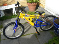 "BOYS 20"" WHEEL BIKE WITH GEARS IN GREAT WORKING ORDER AGE 7+"