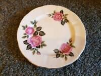 4 Floral Pink Bone China Side Plates