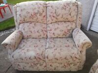 Electric Riser Recliner Chairs x 2 And Matching Sofa
