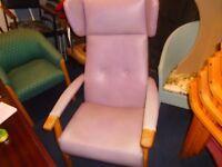 purple retro wing back chair.
