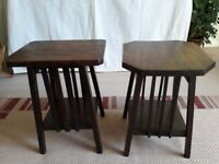 Small, solid wood occasional tables