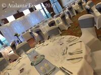 CHAIR COVERS, CENTREPIECES etc
