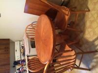Kitchen table chairs and extension