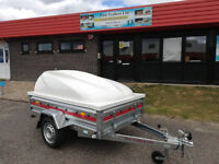 NEW Car Trailer TEMARED PRO 2012 6,7ft x 4ft 750kg ABS PLASTIC LID