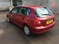 Honda 1.6 Petrol manual, 1 owner from new, with no faults or issues