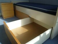 IKEA single bed with drawers