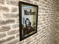 A Framed Marlboro Mirror
