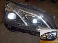 Pair Original Left hand drive Europe ILS LED xenon headlights Mercedes E W212 2010 -2016 *Read AD