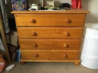 1 x Chest drawers with 2 x matching bedside draw units