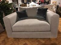 Beautiful deep 2 seater snuggler sofa / chair