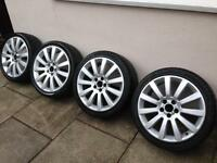 Vauxhall twin top 18 inch alloys with tyres