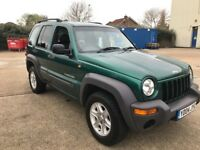2004 JEEP CHEROKEE 2.4 SPORT 5DR GREEN