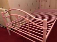 Pink Love Heart Single Bed