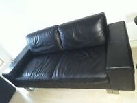 Original italy Natuzzi full leather 2.5 sits sofa