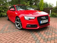 AUDI A5 3.0 TDI S-TRONIC BLACK EDITION QUATTRO - BRILLIANT RED, BANG&OLUFSEN, LEATHER HEATED SEATS