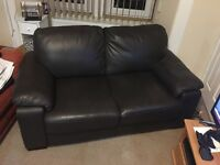 Leather two seater sofa - must go by Monday 5th Dec. £50 ONO