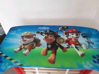 Toddler bed paw patrol