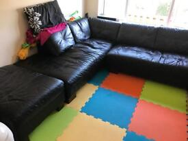 Corner Sofa & Storage Pouffe - PLEASE READ DESCRIPTION