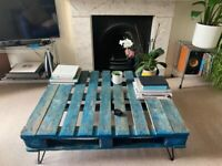 Industrial Recycled Wood Pallet Coffee Table