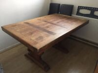 Mexican pine dining table for sale