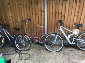 3 x bikes