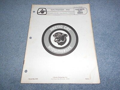 1975 ARCTIC CAT PANTHER 440 SNOWMOBILE PARTS BOOK ILLUSTRATED FACTORY MANUAL