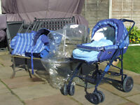 MULTI PURPOSE PRAM /STROLLER/ CAR SEAT / ALL COVERS IN EXCELLENT CONDITION