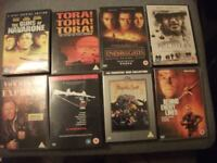SELECTION OF 9 WAR DVDS AS NEW