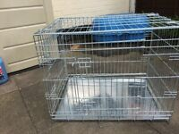 Medium size dog crate, virtually unused