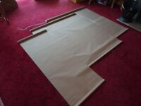 3 Roller Blinds, Light Brown, Complete with fixings