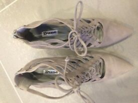 Grey suede Dune heeled shoes