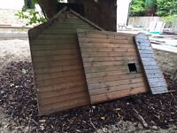 Garden shed 8 x 6, some damage and rot