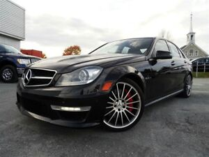 2013 Mercedes-Benz C-Class 63 AMG + NAVI + CUIR ROUGE + INCROYAB