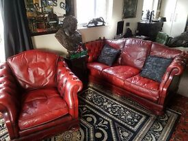 Rare Vintage Dellbrook Drop Arm Sofa and Chair