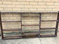 Decorative plate stand with 9 shelves.