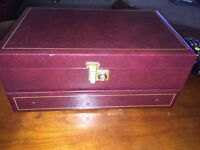 Vintage old fashioned style jewellery box