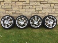 """19"""" Audi RS4 / A6 Le Mans Style Alloys and Tyres 235/35 ZR19"""