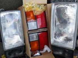vw t4 front / rear lights