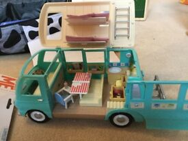 Sylvanian Campervan and characters