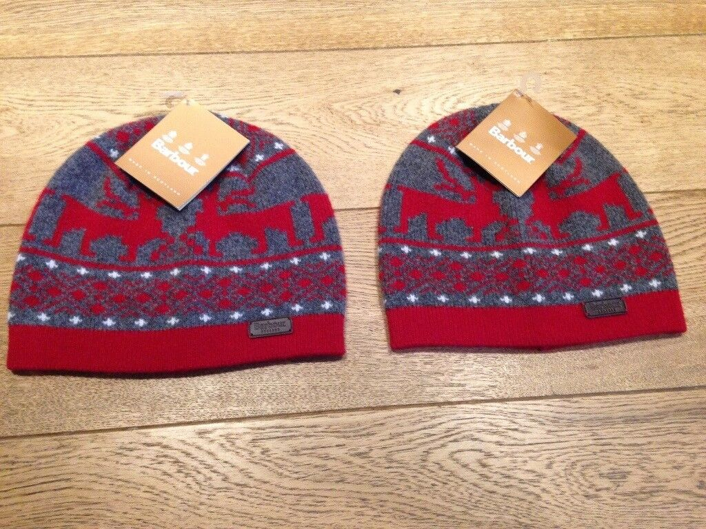 Barbour children's fairisle wool hat - brand new with tag