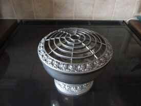 silver plated rose bowl for flowers