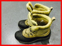 KARRIMOR Mens Winter Gore-Tex Walking Boots Shoes Fur Lined Warm Size 9 Euro 43 Great Condition