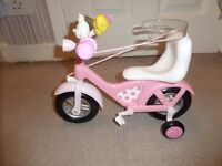 BABY BORN PULL ALONG BIKE FOR SALE