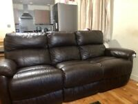 DFS sofa recliner leather chairs both 3 seaters